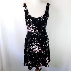 SOLD Lauren Conrad Textured Floral Belt Dress
